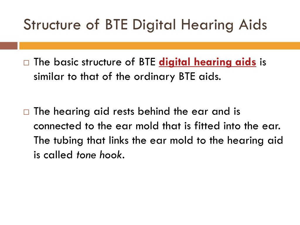 Structure of BTE Digital Hearing Aids