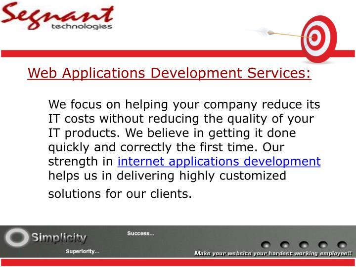 Web Applications Development Services: