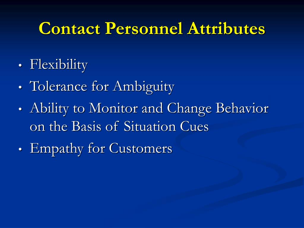 Contact Personnel Attributes