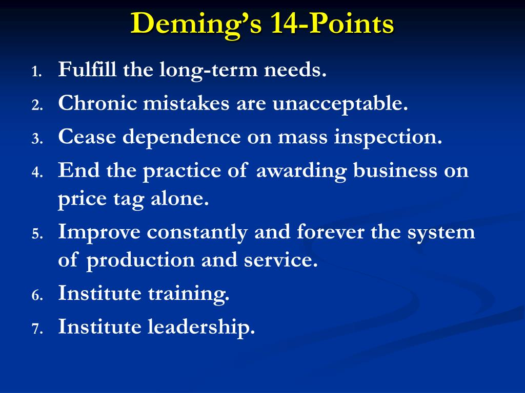 Deming's 14-Points