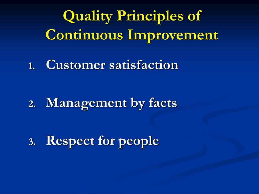 Quality Principles of
