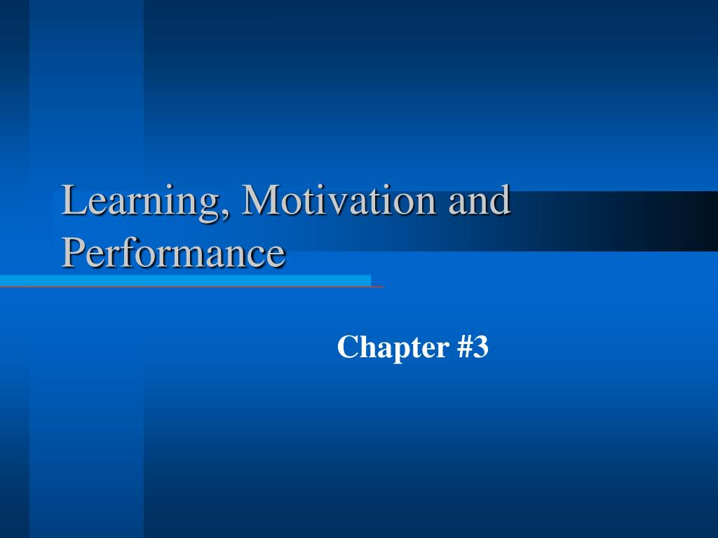 learning motivation and performance l.