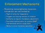 enforcement mechanisms57