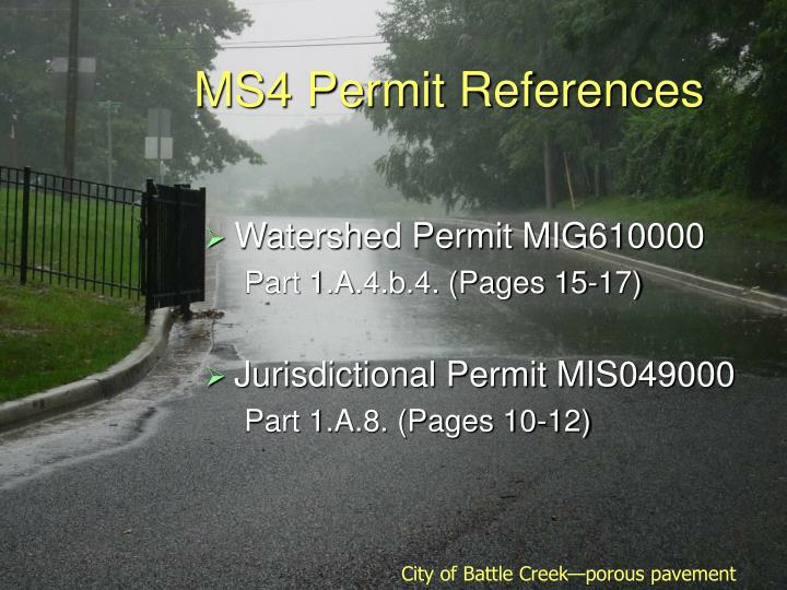 Ms4 permit references
