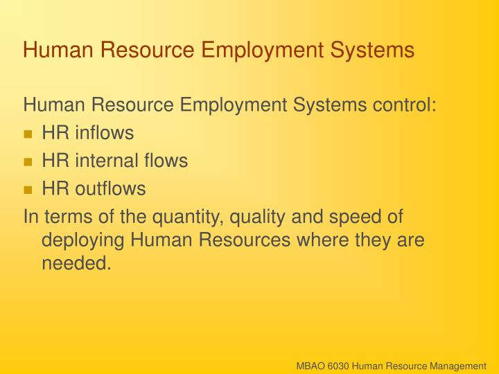 Human resource employment systems2