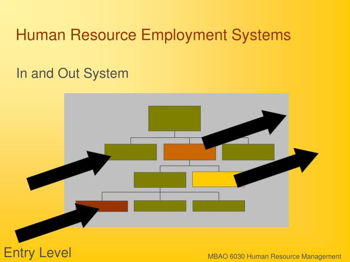 Human resource employment systems3
