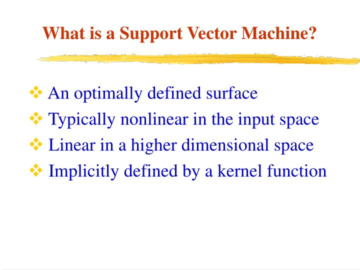 What is a support vector machine