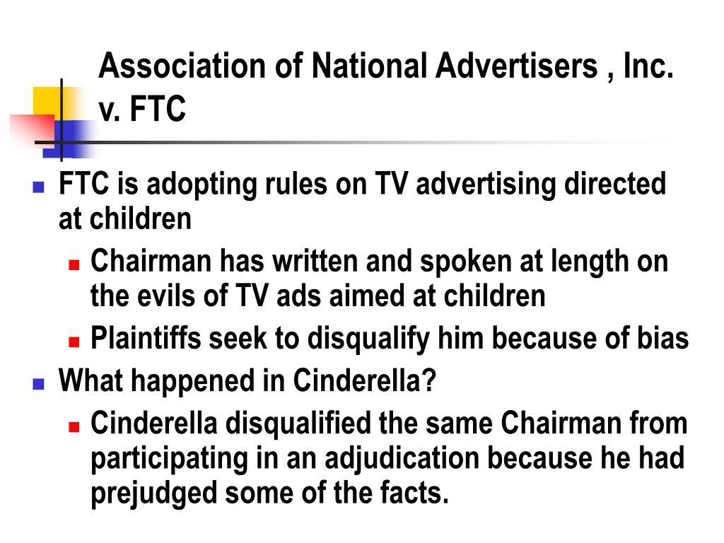Association of National Advertisers , Inc. v. FTC