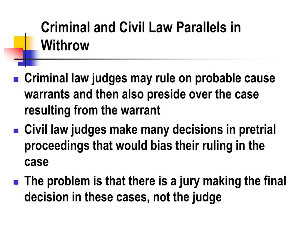 Criminal and Civil Law Parallels in Withrow