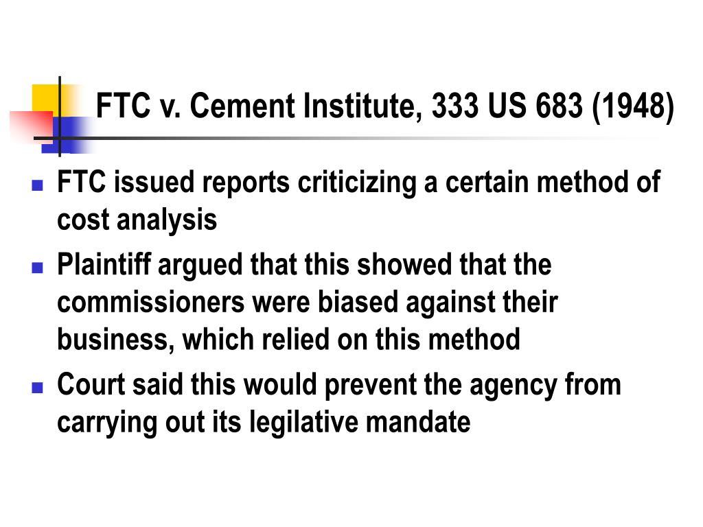 FTC v. Cement Institute, 333 US 683 (1948)