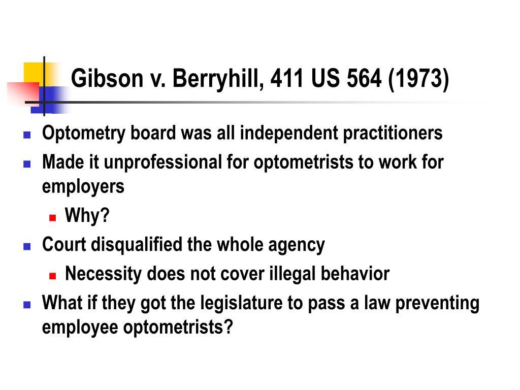 Gibson v. Berryhill, 411 US 564 (1973)