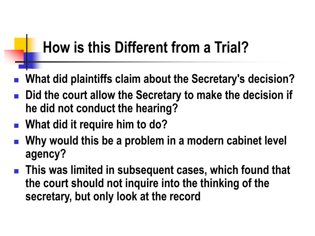 How is this Different from a Trial?