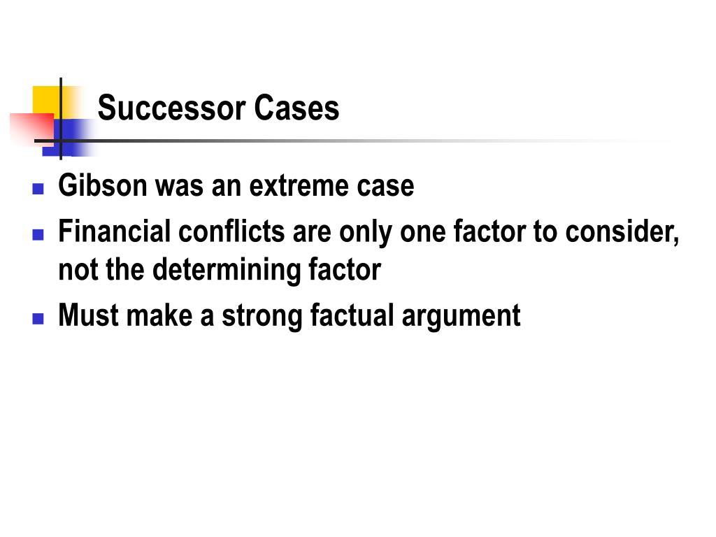 Successor Cases