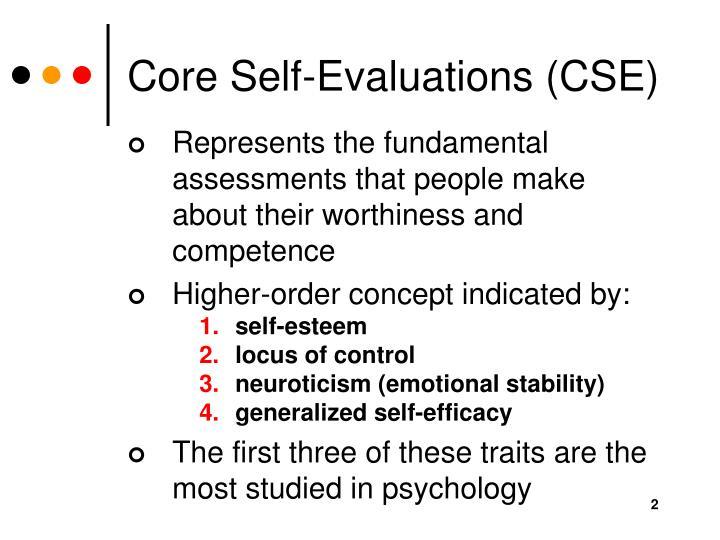 Core self evaluations cse