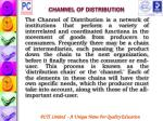 channel of distribution