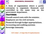 departmental organization