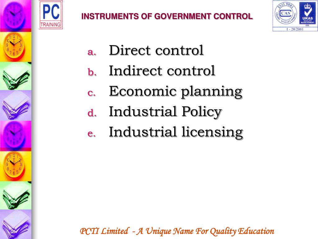 INSTRUMENTS OF GOVERNMENT CONTROL
