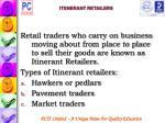 itenerant retailers