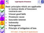 legal aspects of insurance