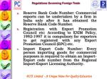 regulations governing foreign trade