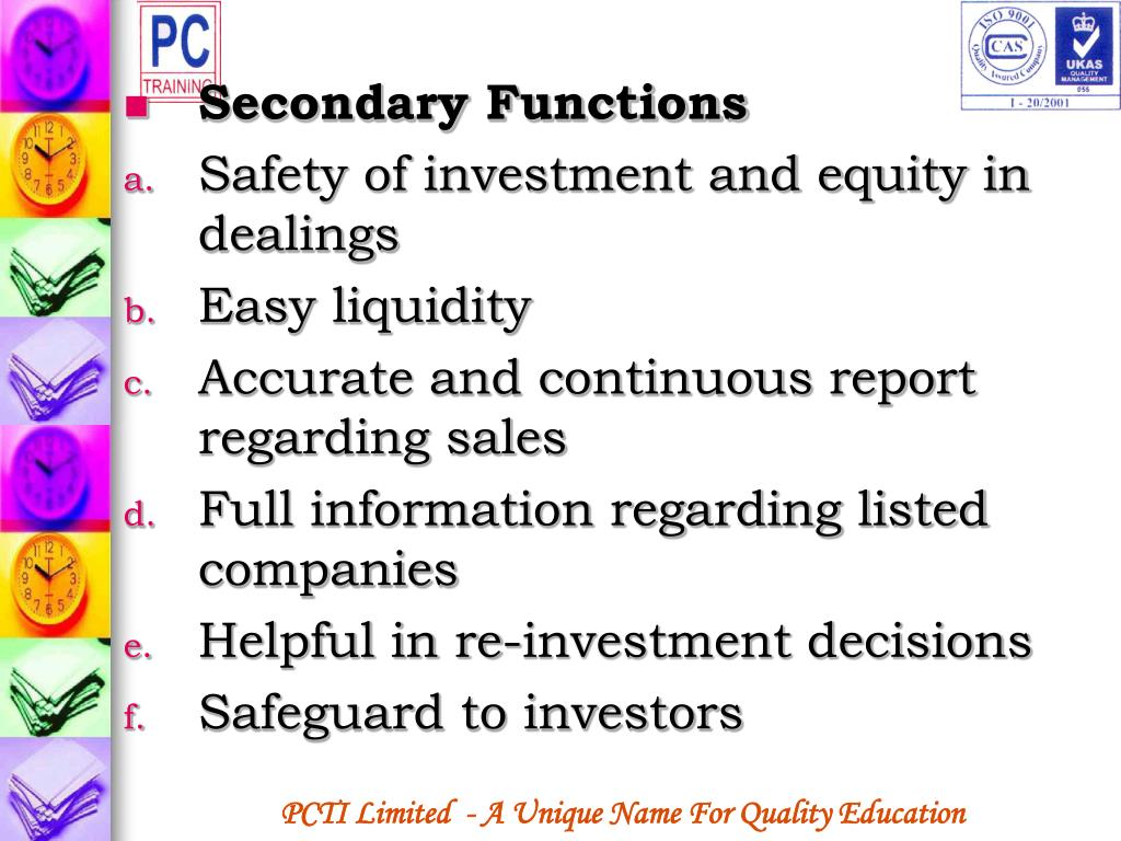 Secondary Functions