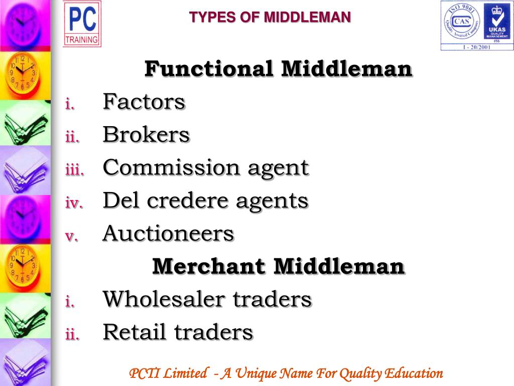 TYPES OF MIDDLEMAN