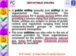 unit 18 public utilities