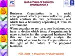 unit 3 forms of business organization ii