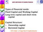 unit 5 methods of raising finance