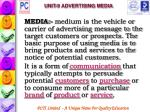 unit 9 advertising media