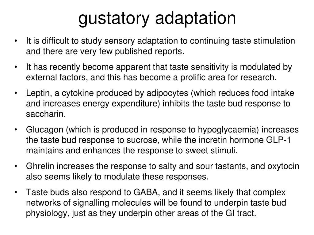 gustatory adaptation