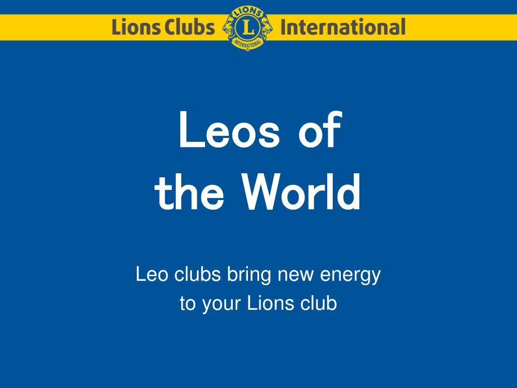 leos of the world l.