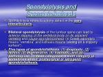 spondylolysis and spondylolisthesis