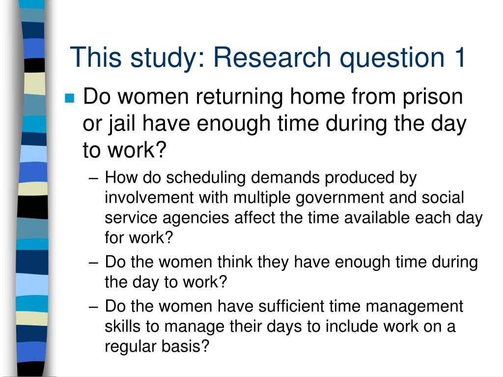 This study: Research question 1