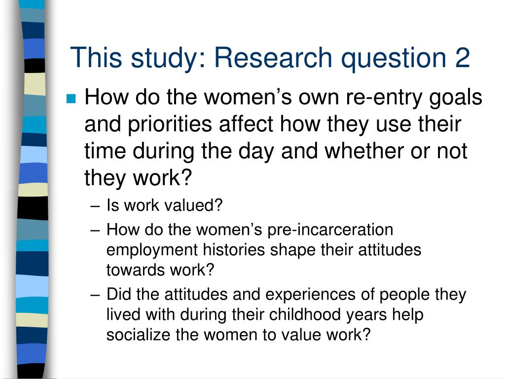 This study: Research question 2