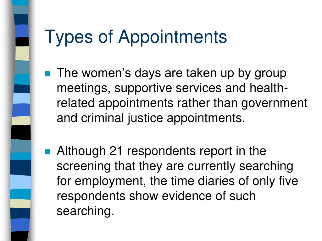 Types of Appointments