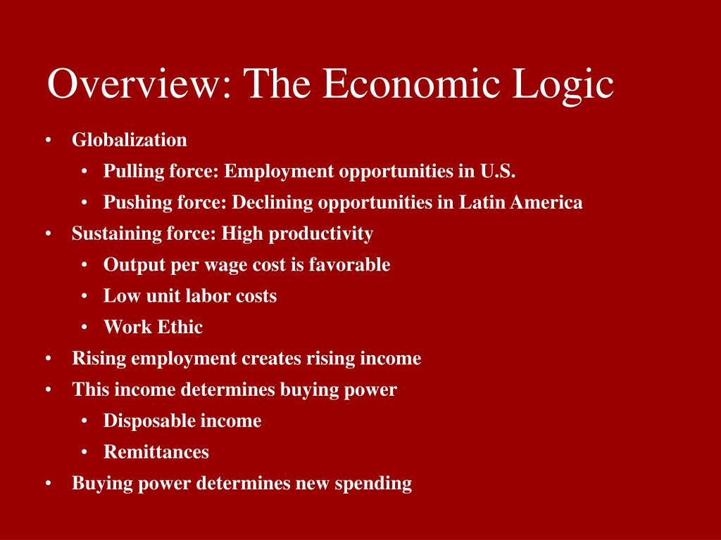 Overview: The Economic Logic