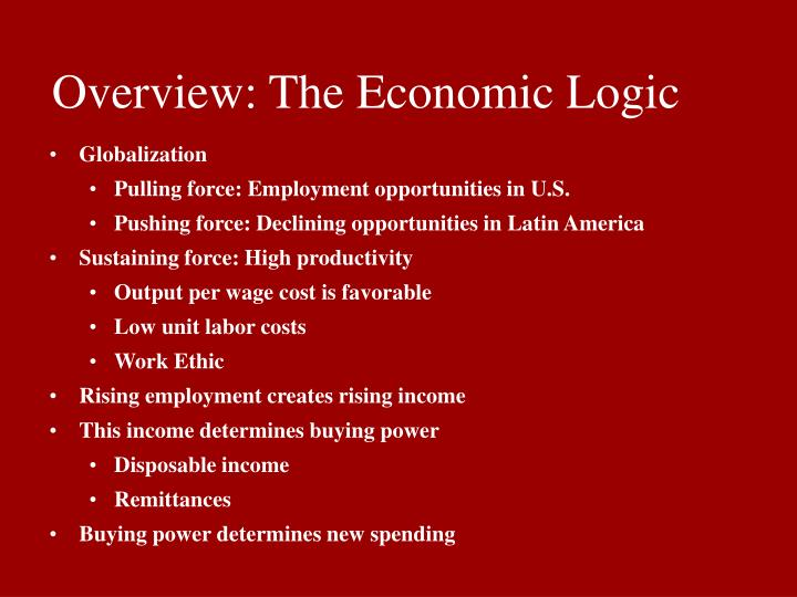 Overview the economic logic