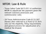 mfdr law rule