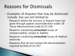 reasons for dismissals