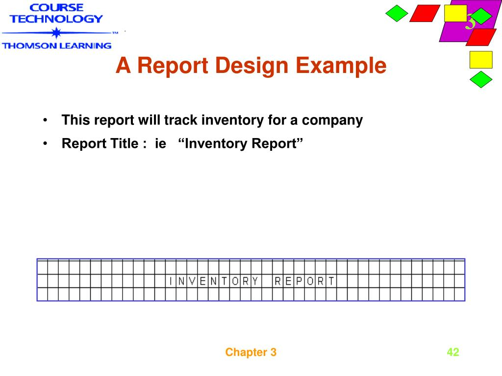 A Report Design Example