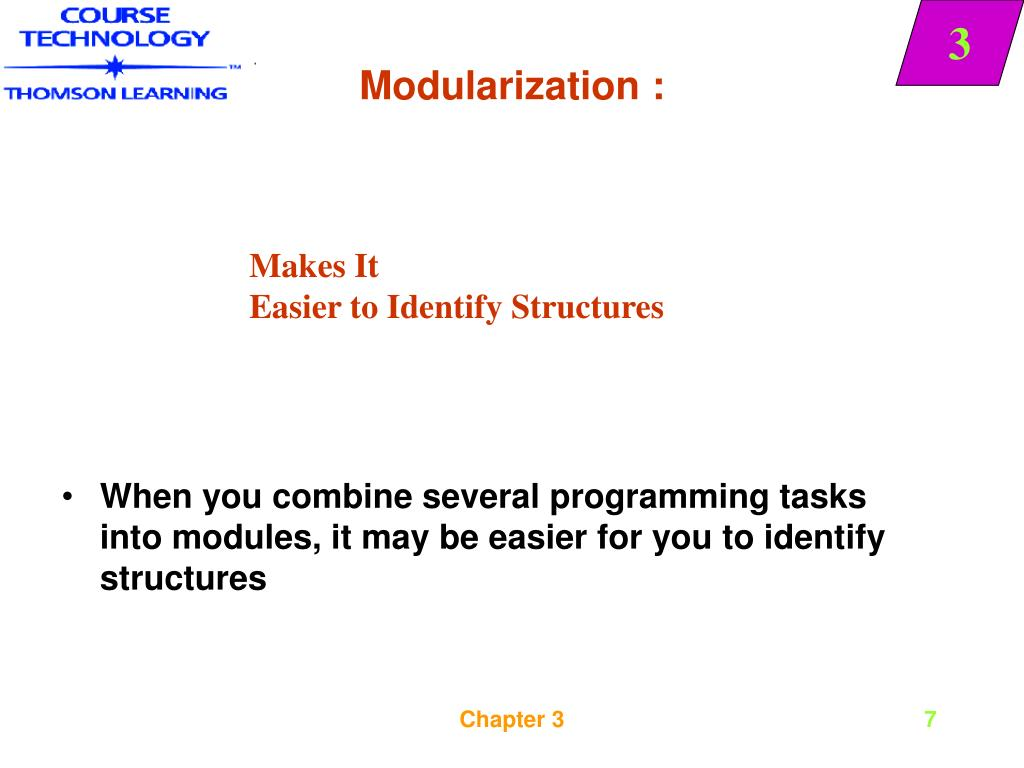 Modularization :