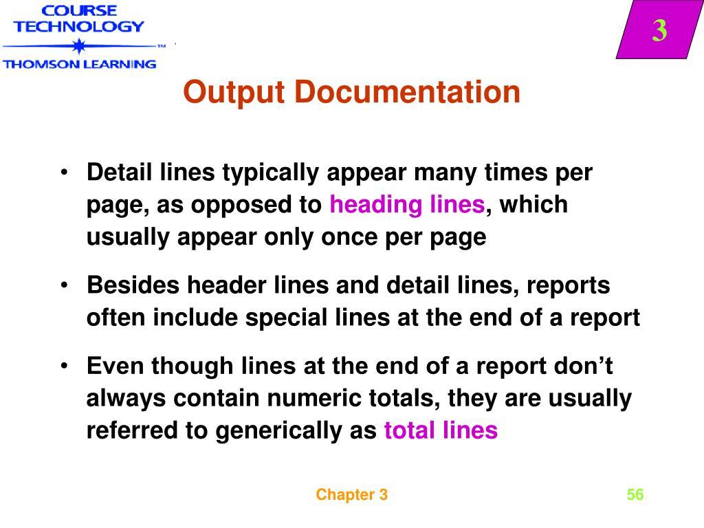Output Documentation