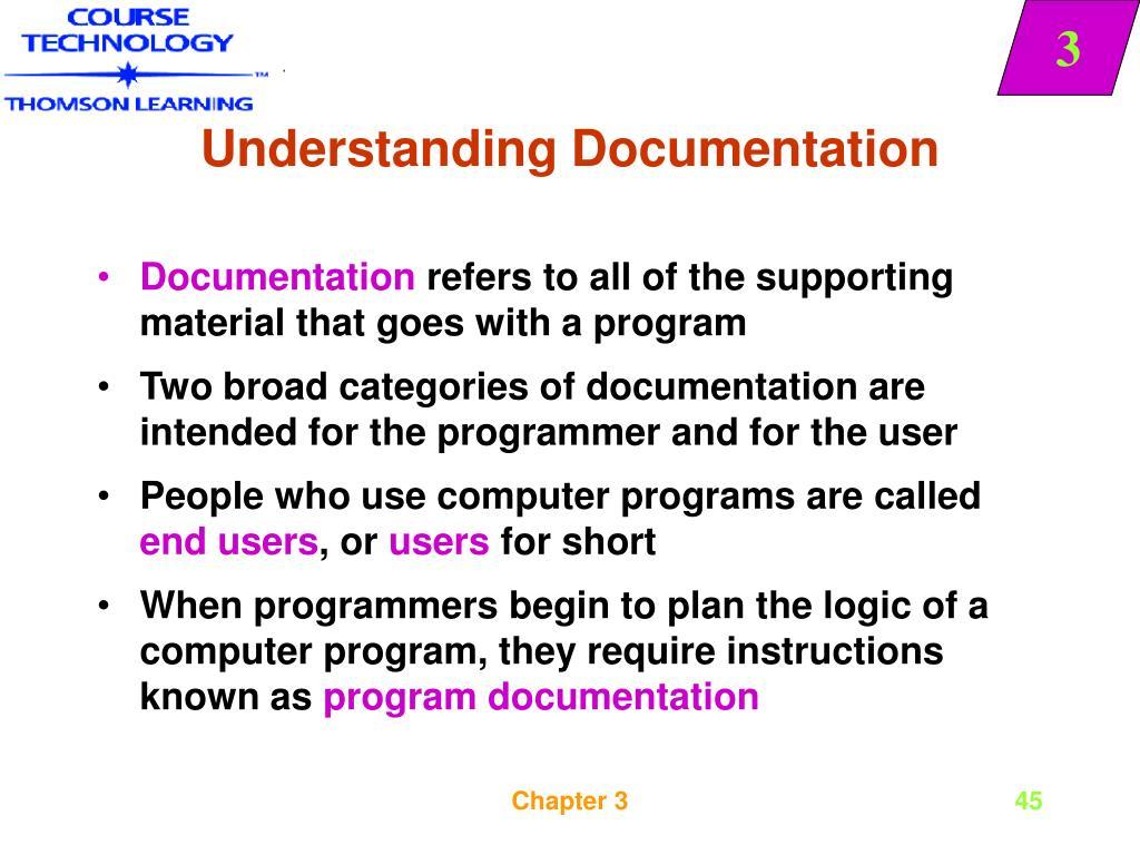 Understanding Documentation