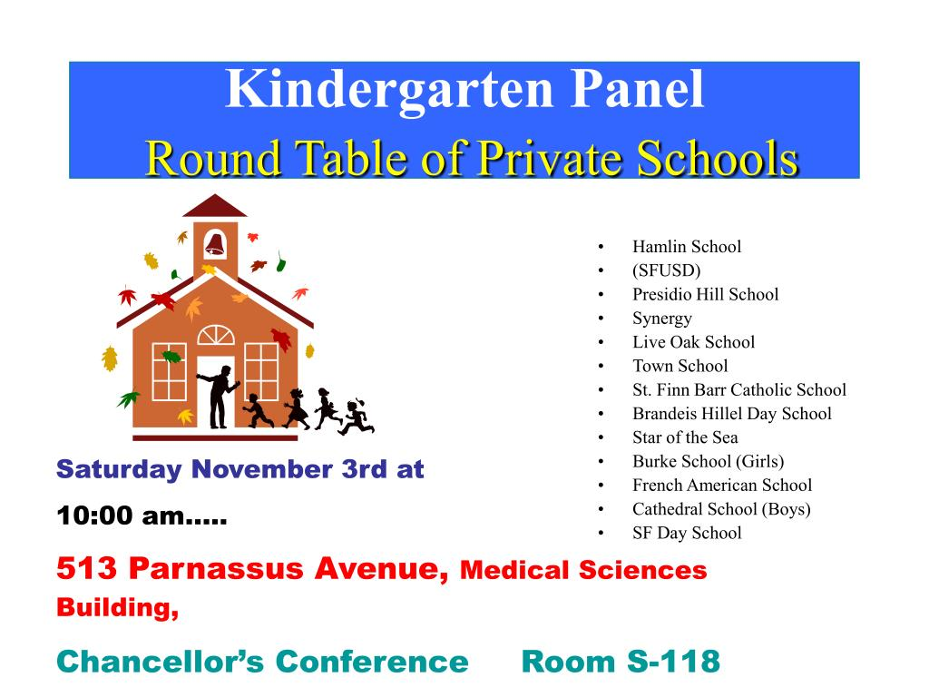 kindergarten panel round table of private schools