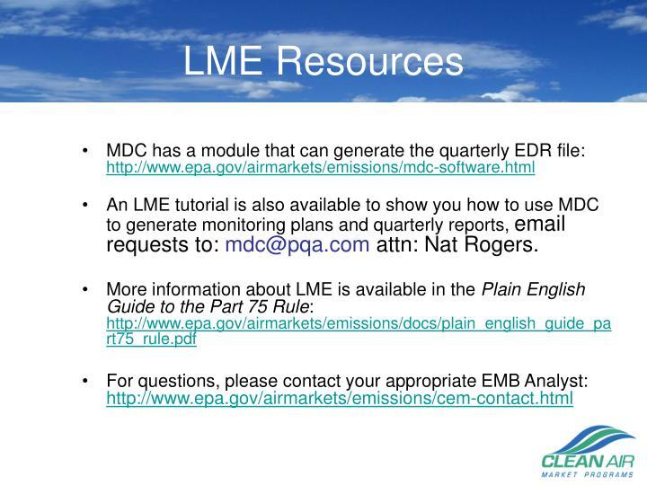 LME Resources