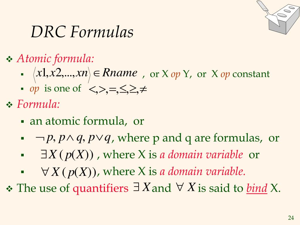 DRC Formulas