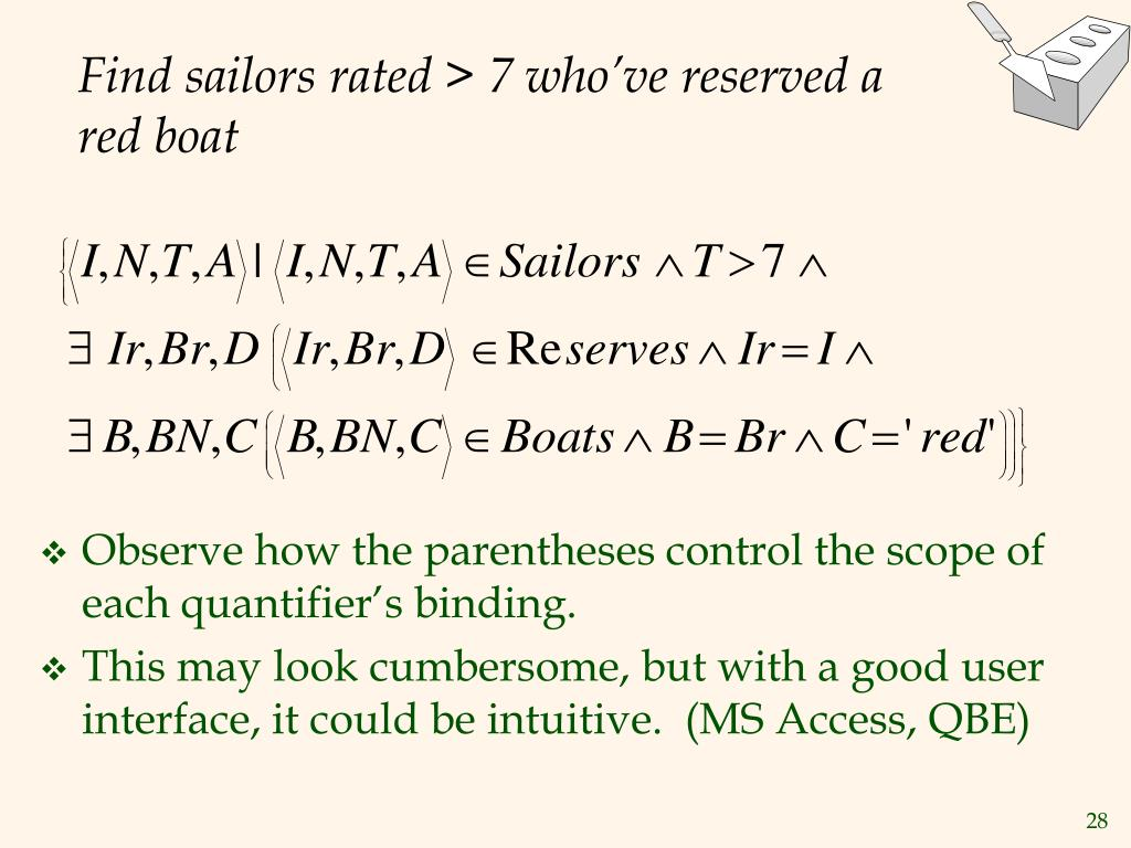 Find sailors rated > 7 who've reserved a red boat