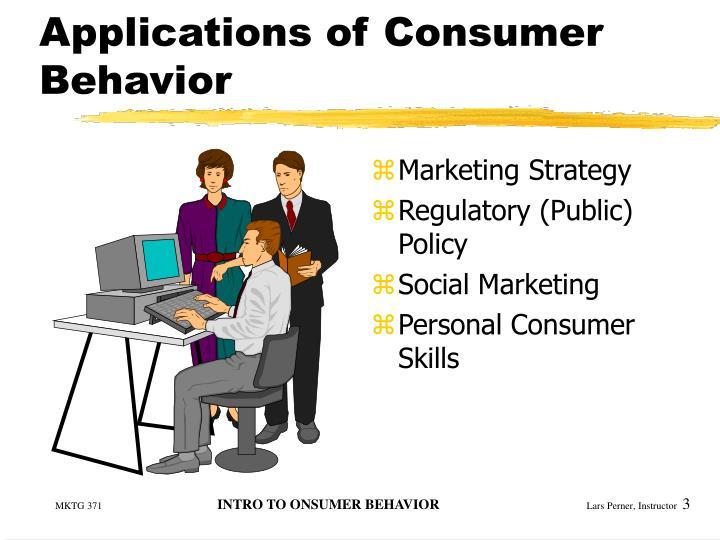 Applications of consumer behavior