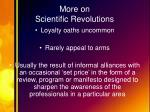 more on scientific revolutions